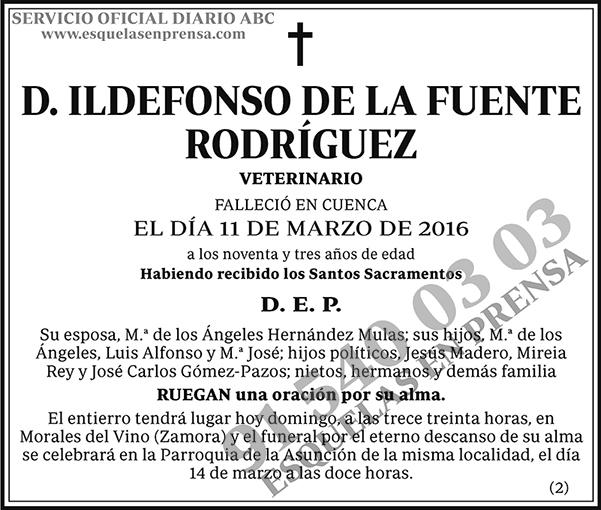 Ildefonso de la Fuente Rodríguez